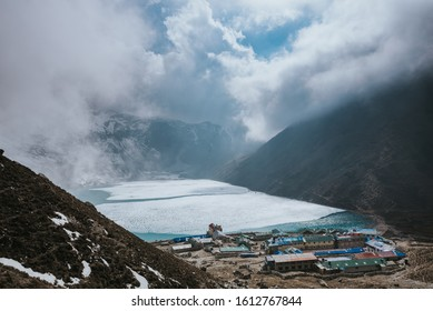 Gokyo Lakes oligotrophic lakes in Nepal Sagarmatha National Park world's highest freshwater lake system 4,700–5,000 m above sea level - Gokyo Ri  Thonak Lake EBC trek