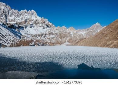 Gokyo Lakes are oligotrophic lakes in Nepal's Sagarmatha National Park  Sagarmatha Zone in north-eastern Nepal. Gokyo Cho, also called Dudh Pokhari Thonak Cho the largest highest lake world