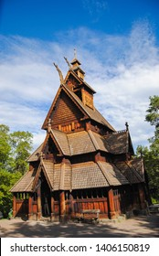 Gol Stave Church or Gol Stavkyrkj in Oslo, Norway. it is located in the Norwegian Museum of Cultural History at Bygdoy peninsula. Made of wood