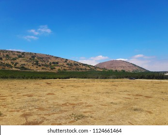 The Golan Heights typical landscape
