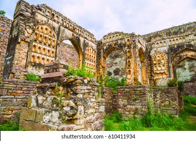 Golconda Fort in Hyderabad, India. Abandoned part of the fort.
