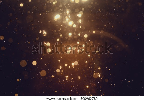 Gold abstract bokeh background