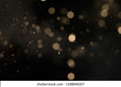 Gold abstract bokeh background, Merry Christmas and New Year background