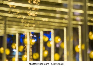 gold abstract lights bokeh background