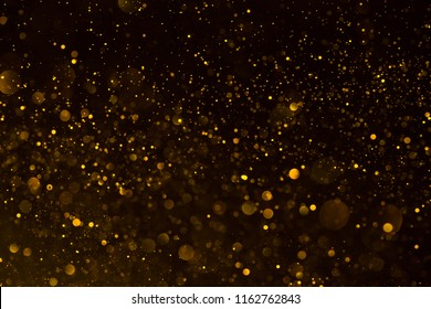 Gold abstract shiny glitter magical background