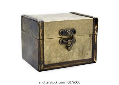 gold aged casket