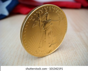 Gold American Eagle, $50 Gold Piece, One Troy Ounce of Gold