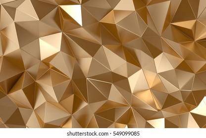 Gold background, luxury 3d illustration.