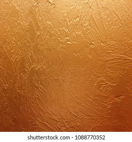 gold background paper, texture is old vintage distressed solid glitter gold color with rough peeling grunge paint on edges