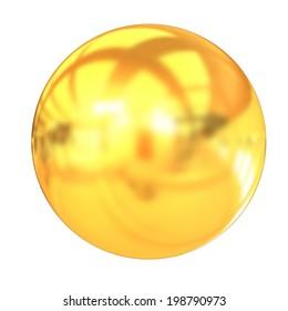 Gold Ball 3d render
