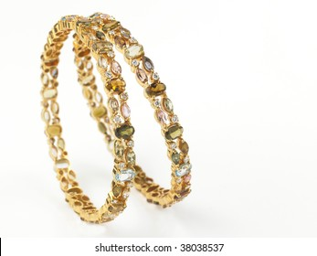 Gold Bangles Images, Stock Photos & Vectors   Shutterstock