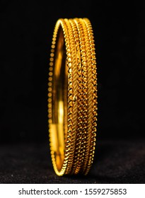 Gold bangles / wedding bangles / Traditional gold bangles - Indian tradition  - Shutterstock ID 1559275853