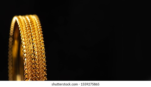 Gold bangles / wedding bangles / Traditional gold bangles - Indian tradition  - Shutterstock ID 1559275865
