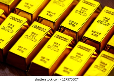 Gold and gold bar