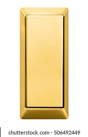 gold bar isolated on white background.