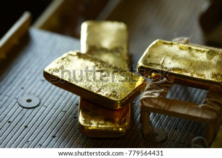 a2161be27078 Gold Bar Put On Plastic Ship Stock Photo (Edit Now) 779564431 ...