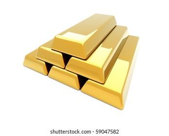 Gold bar pyramid