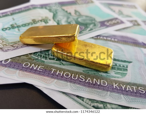 Image result for Myanmar gold and kyats