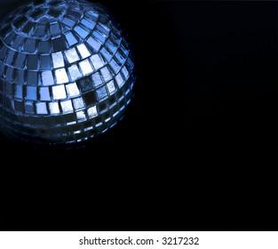 gold black disco ball