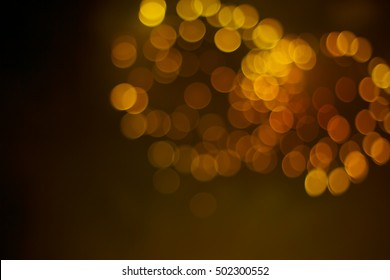 Gold blurred firework in the night