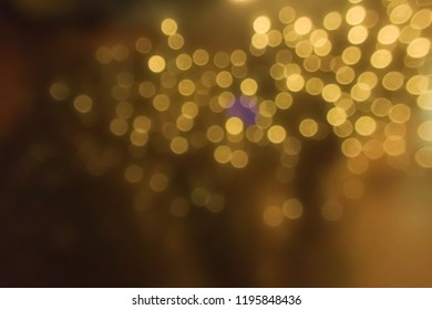gold bokeh for abstract background