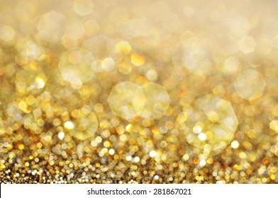 Gold bokeh blur background