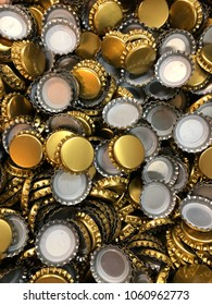 Gold bottle caps