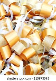 gold bow ribbon