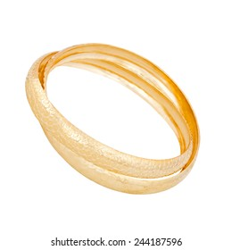 gold bracelet on a white background