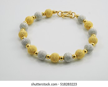 gold bracelet two tone