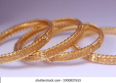 Gold bridal bangles set jewellery