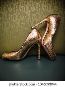 Gold Bride Wedding High Heels