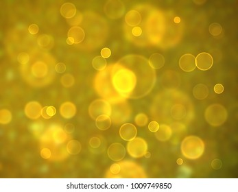 gold bubble dimension bokeh blur absract background