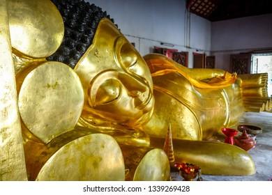 Gold Buddha statue in Wat Phra Singh temple, Chiang Mai, Thailand