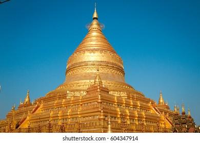 Gold Burmese temple