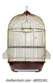 Gold cage. It is isolated on a white background.