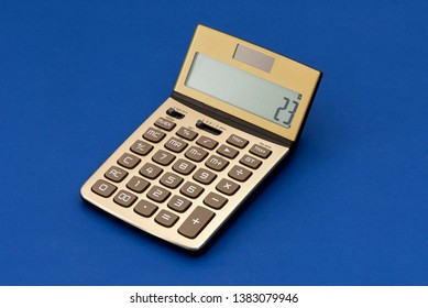 Gold Calculator on the blue background.