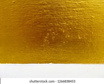 Gold cement wall and floor texture