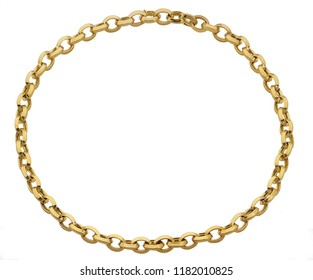 Gold chain isolated