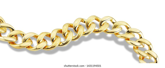 Gold chain isolated fancy collection