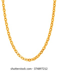 Gold chains isolated