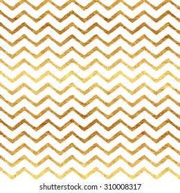Gold Chevron Faux Foil Metallic White Background Pattern Texture