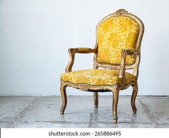 gold classical style  sofa couch in vintage room