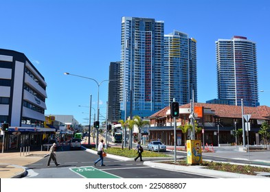 GOLD COAST, AUS - OCT 17 2014:Southport CBD in Gold Coast Queensland, Australia. It has the largest area of office space at 103,818 m²  in Gold Coast Australia.