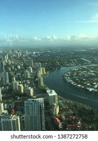 Gold Coast, Australia - 03/10/2019: Top View Sky Observation Deck Surfers Paradise