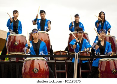 GOLD COAST - AUSTRALIA - 18 MARCH: Unidentified group of musicians performing on Japan & Friends Day festival. 18 March 2012 on Gold Coast, Australia.