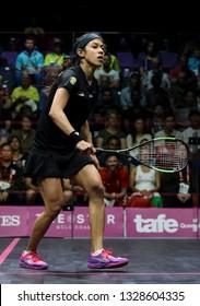 GOLD COAST, AUSTRALIA - APRIL 09, 2018 : Nicol David of Malaysia during Squash event at Gold Coast 2018 Commonwealth Games.