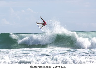 GOLD COAST, AUSTRALIA - FEBRUARY 28 2015: Kelly Slater (USA) competing in the Quiksilver Pro at Snapper Rocks Coolangatta