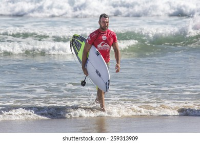 GOLD COAST, AUSTRALIA - FEBRUARY 28 2015: Joel Parkinson (Australia) competing in the Quiksilver Pro at Snapper Rocks Coolangatta