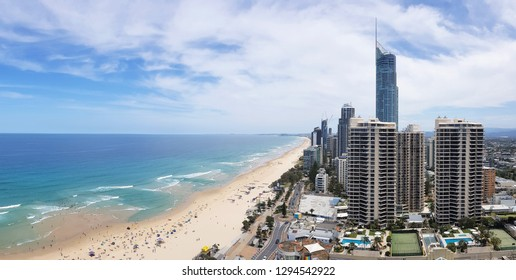 GOLD COAST, Australia - Jan 20 2019: View of the Gold Coast in Queensland Australia
